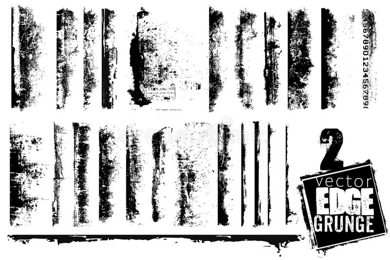 ostrzy grunge set ilustracji