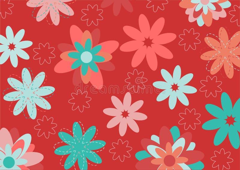 Ostrzy kwiaty royalty ilustracja