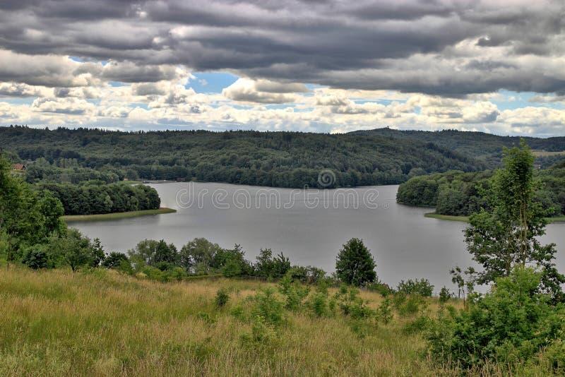 Ostrzyckie jezioro w Polska zdjęcie stock