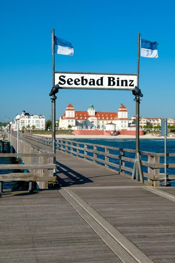 Ostseebad Binz, Ruegen ö, Tyskland royaltyfria foton