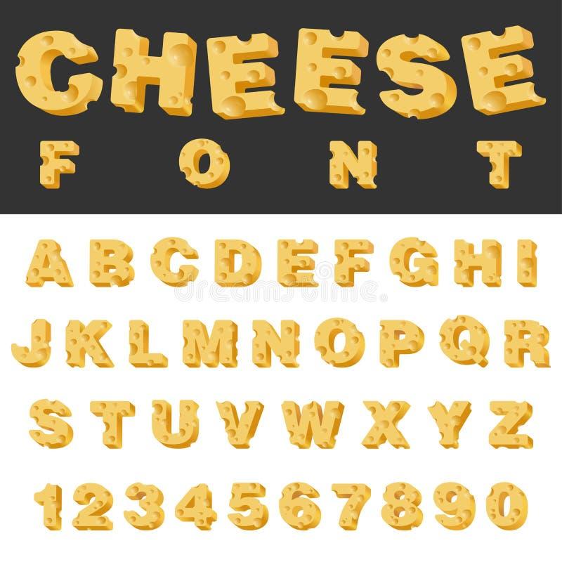 Ostskivan märker och numrerar den latinska stilsorten vektor illustrationer