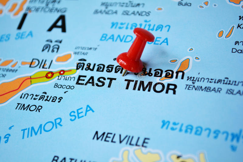 Osttimor-Karte lizenzfreies stockfoto