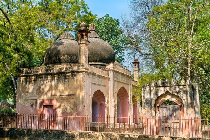Osttor Humayun Tomb Complexs in Delhi, Indien lizenzfreies stockfoto