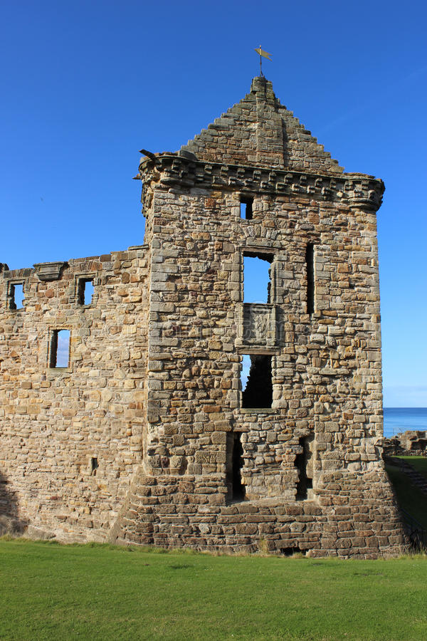 Ostturm, St Andrew Schloss, Pfeife, Schottland stockbilder