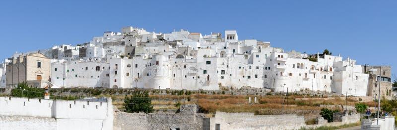 Ostuni a cidade branca de Puglia fotografia de stock