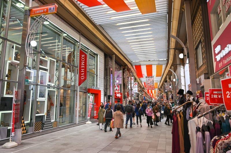 Osu-Einkaufsstraße, Nagoya, Japan stockfoto