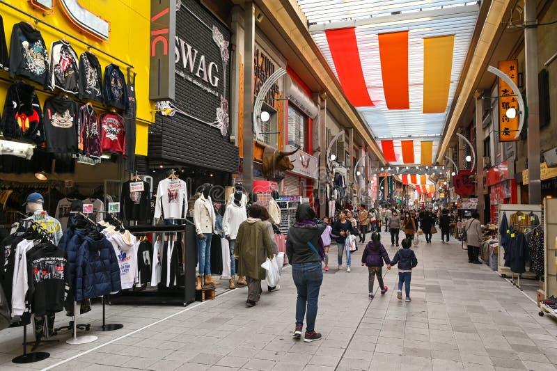 Osu-Einkaufsstraße, Nagoya, Japan lizenzfreie stockfotos
