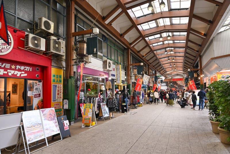 Osu-Einkaufsstraße, Nagoya, Japan lizenzfreies stockbild