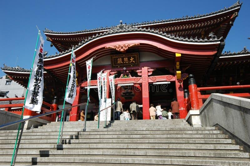 Osu Kannon temple in Nagoya, Japan. NAGOYA, JAPAN- 25 APR, 2018: Osu Kannon temple in Nagoya, Japan stock photo
