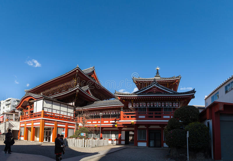 Osu Kanon Temple in Nagoya. NAGOYA, JAPAN - January 24,2016: Osu Kanon Temple in Nagoya., Osu Kanon is a buddhist temple (Shingon sect) and its history started royalty free stock photo