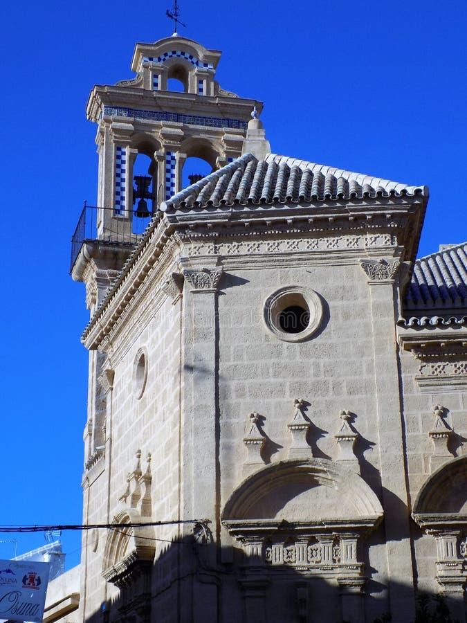 Osuna -Santo Domingo Church-Andalusia. Osuna-Santo Domingo Church -Sevilla-Andalusia stock image