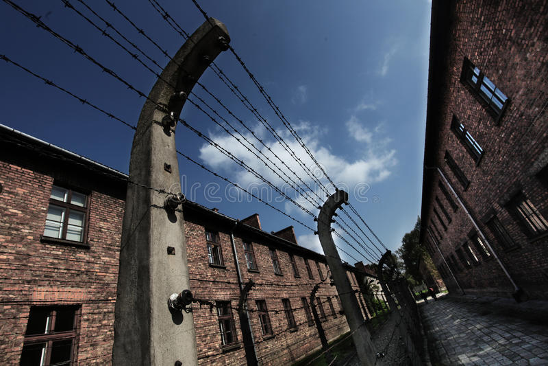 Oswiecim, Poland Auschwitz area royalty free stock photography