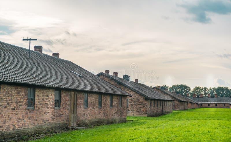 Oswiencim, Pologne - 21 septembre 2019 : Camp de concentration de Birkenau Casernes de la mort Histoire juive de camp d'extermina images libres de droits