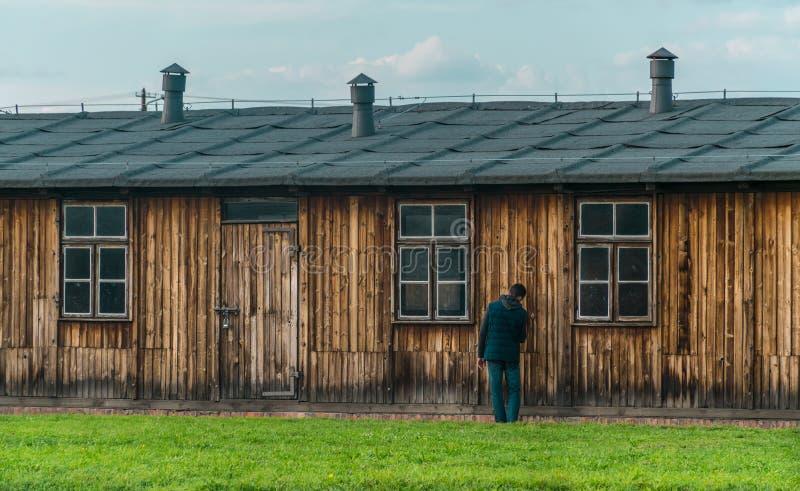 Oswiencim, Pologne - 21 septembre 2019 : Camp de concentration de Birkenau Casernes de la mort Histoire juive de camp d'extermina image stock