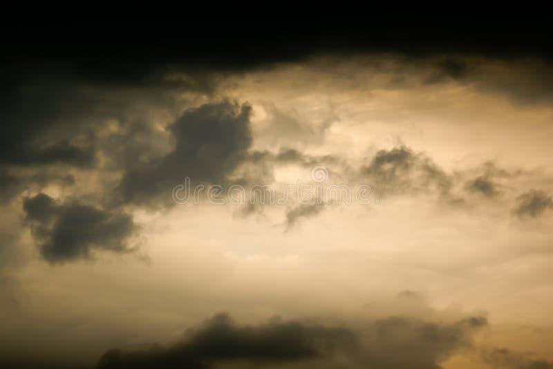 Oszałamiająco niebo po burzy fotografia stock