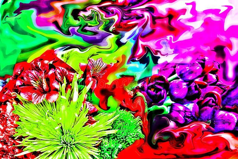 Oszałamiająco Abstrakcjonistyczna fotografia Macierzysty ` s dzień Kwitnie fotografia stock