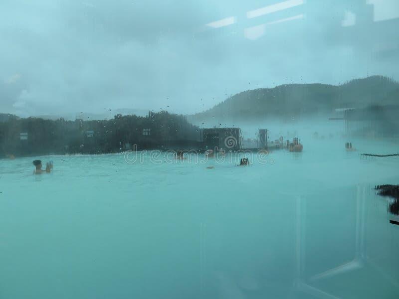 Oszałamiająco Błękitna laguna, Iceland fotografia royalty free