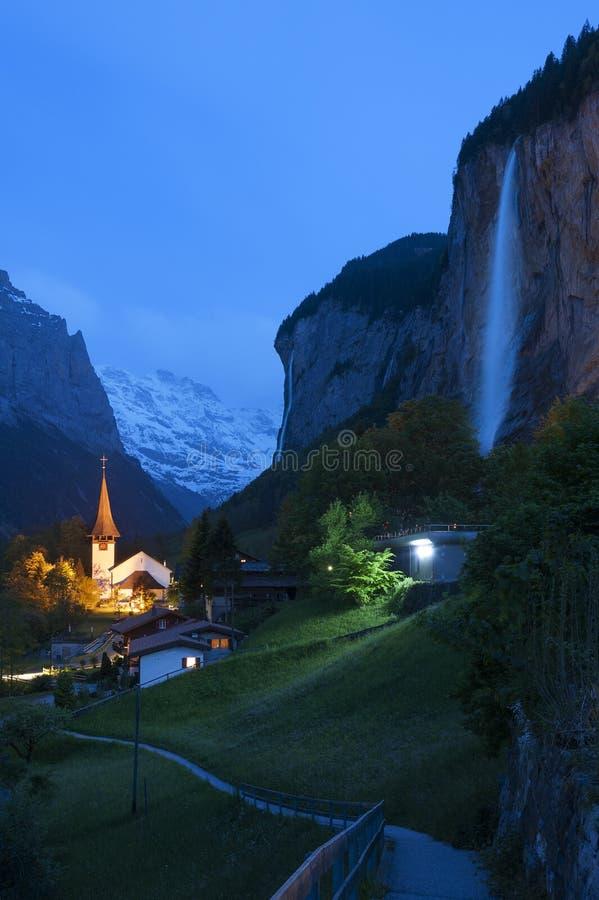 Oszałamiająco krajobraz w szwajcarze zdjęcia royalty free