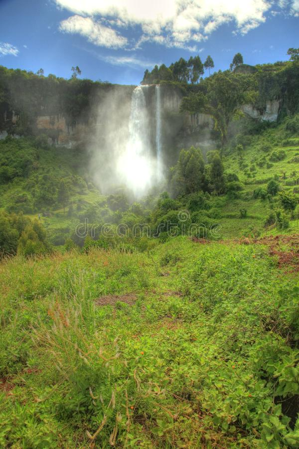 Oszałamiająco siklawa Przy Sipi spadkami, Uganda, Afryka fotografia stock