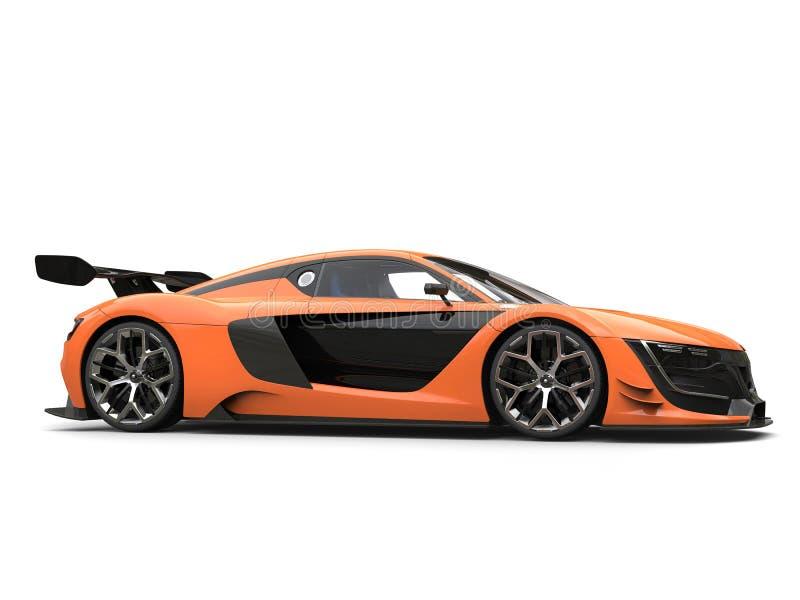 Oszałamiająco sporta samochód - siły woli pomarańcze i czerń kolory ilustracji
