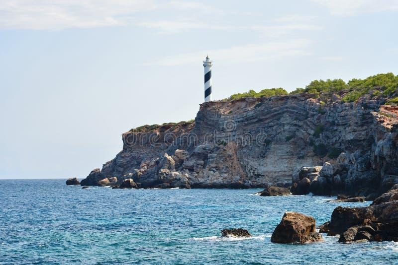 Oszałamiająco widok Faro De Moscarter od Punta Galera zdjęcia royalty free