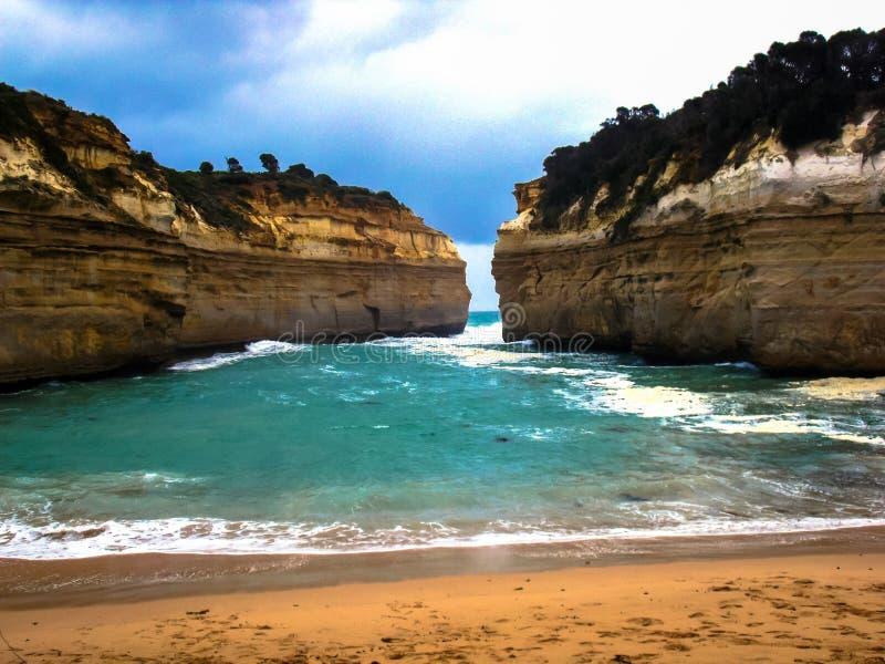 Oszałamiająco widok piękna Wielka ocean droga, Wiktoria, Australia zdjęcie stock