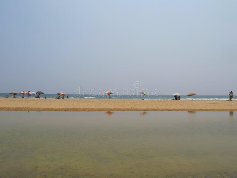Oszałamiająco widok plaża przy Varkala, Kerala, India fotografia stock