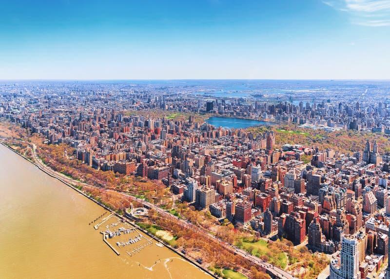 Oszałamiająco widok z lotu ptaka Manhattan nd central park fotografia royalty free