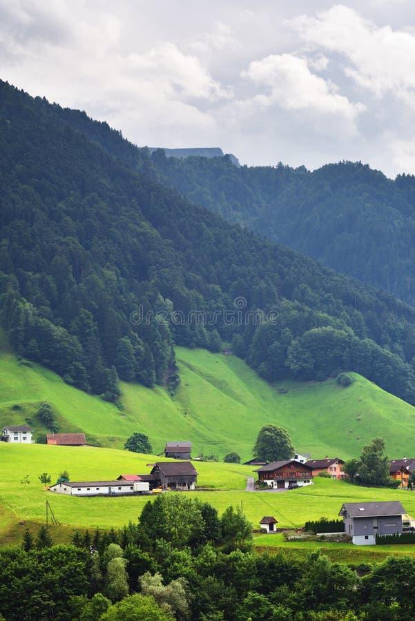 Oszałamiająco wysokogórski krajobraz w kantonie Uri, Szwajcaria zdjęcia royalty free