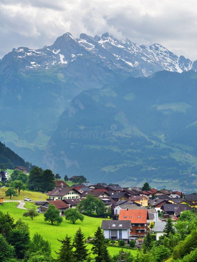 Oszałamiająco wysokogórski krajobraz w kantonie Uri, Szwajcaria fotografia stock