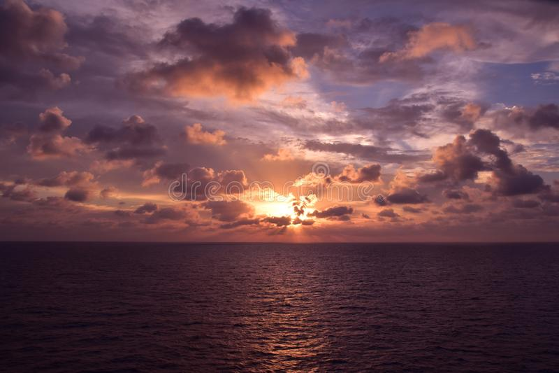 Oszałamiający seascape zdjęcia stock
