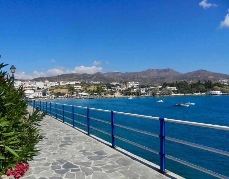 Oszałamiający widok na Krecie w Zatoce Mirabello obrazy stock