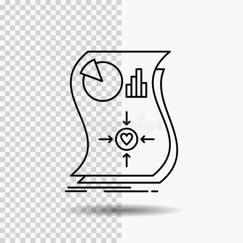 Oszacowanie, miłość, związek, odpowiedź, wyczulona Kreskowa ikona na Przejrzystym tle Czarna ikona wektoru ilustracja ilustracji