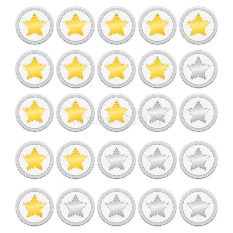 Oszacowywa gwiazdy ilustracja wektor