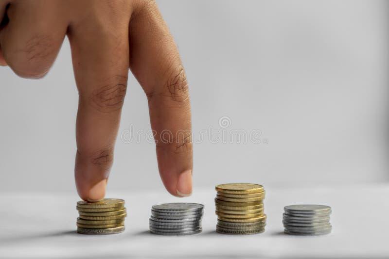 Oszczędzania, finanse, inwestycje, gospodarka i domu budżet, obraz royalty free