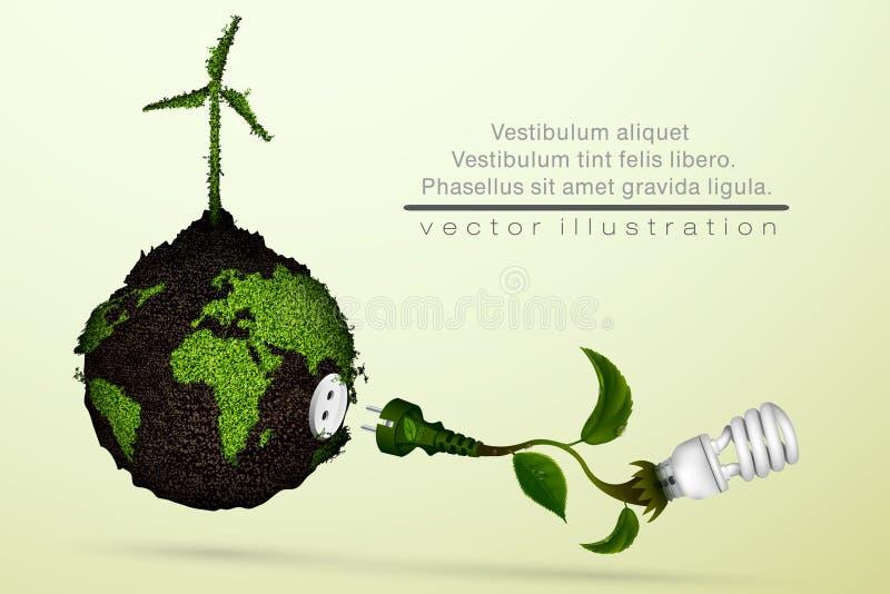 oszczędność energii światła żarówki royalty ilustracja