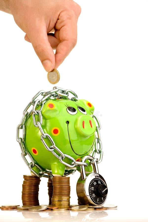 oszczędności bezpiecznie obraz stock