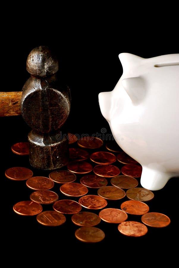 oszczędności wydatków obraz stock