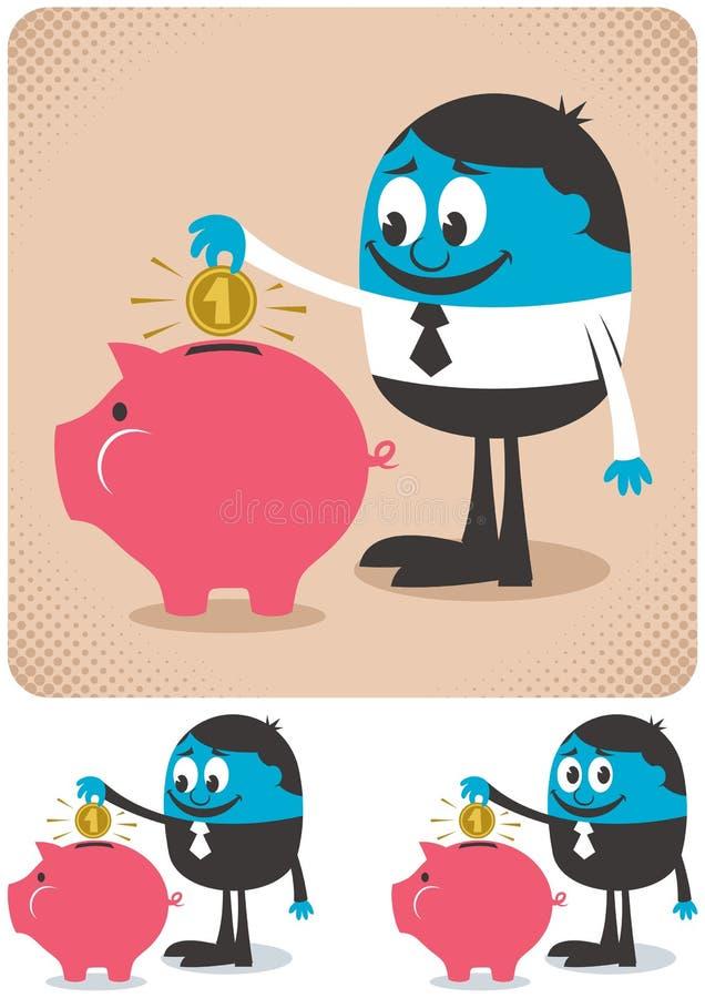 Oszczędzania ilustracja wektor