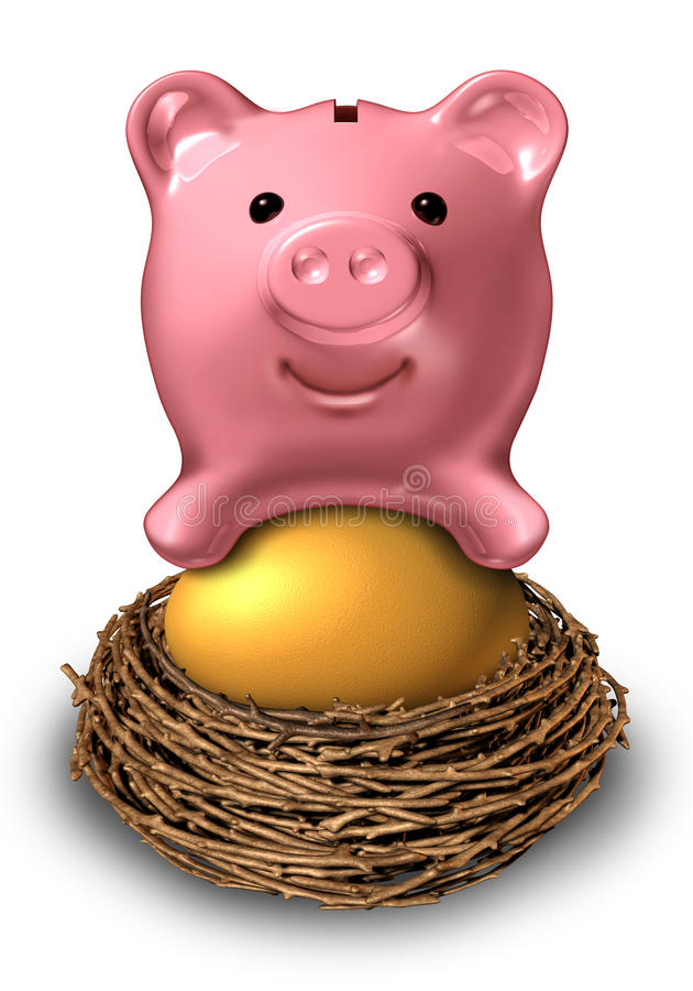 Oszczędzania Gniazdowy jajko royalty ilustracja