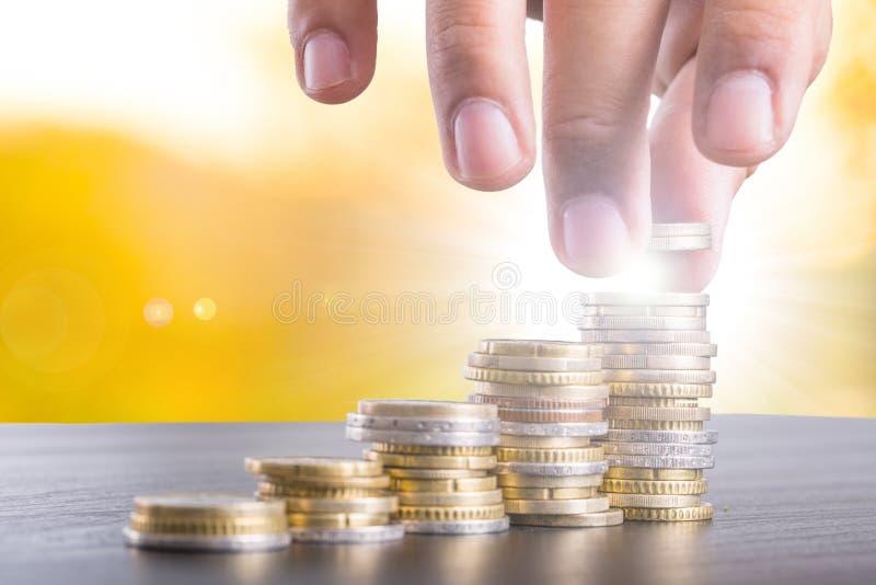 Oszczędzanie pieniądze moneta obrazy royalty free