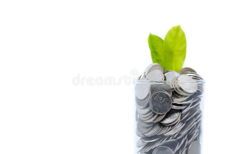 Oszczędzanie pieniądze w szkle dla twój inwestorskiego przyszłościowego przyzwyczajenia jest simi obrazy stock