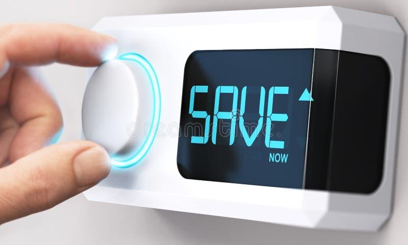 Oszczędzanie pieniądze; Zmniejszanie konsumpcja energii zdjęcia stock
