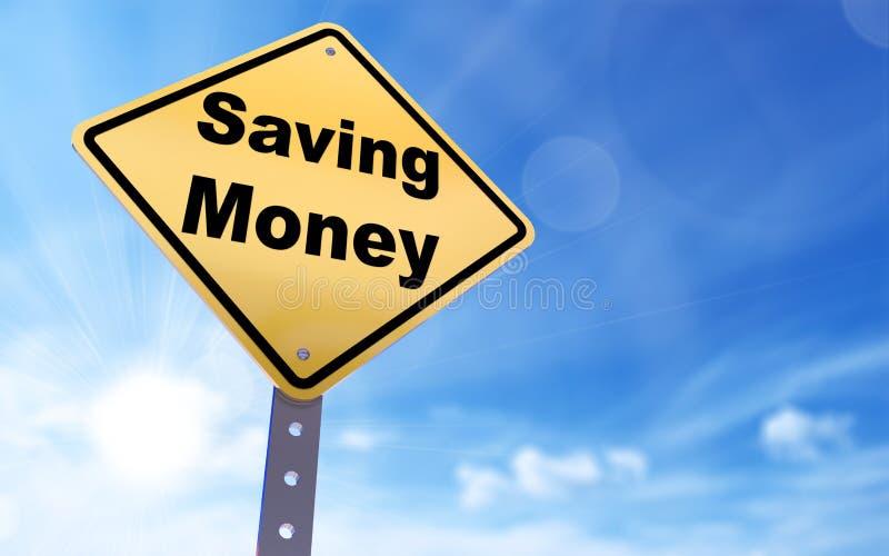 Oszczędzanie pieniądze znak royalty ilustracja