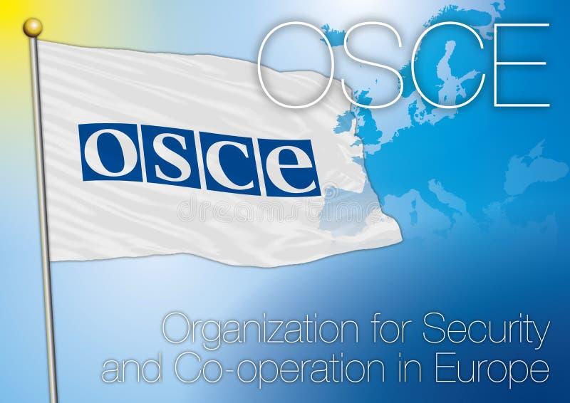 OSZE-Flagge vektor abbildung