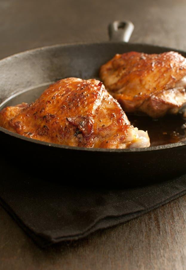 Oszklony pieczony kurczak lub indyk obraz royalty free
