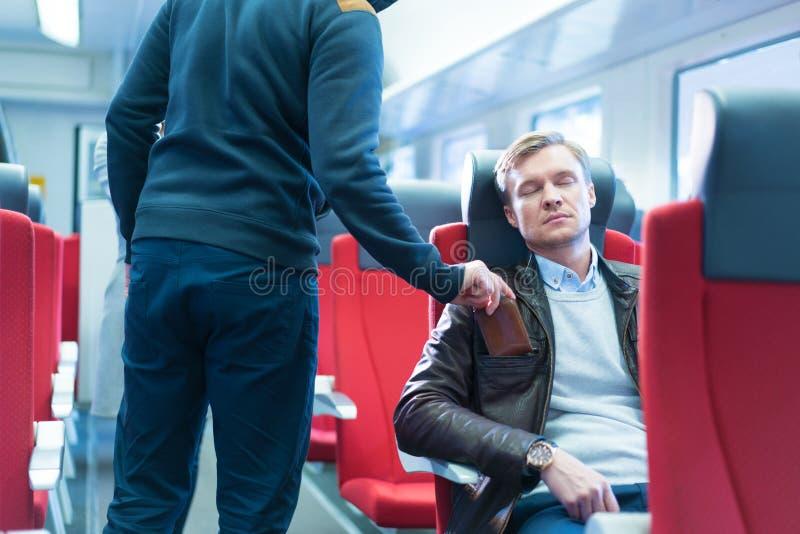 ? oszrania w pociągu obrazy royalty free