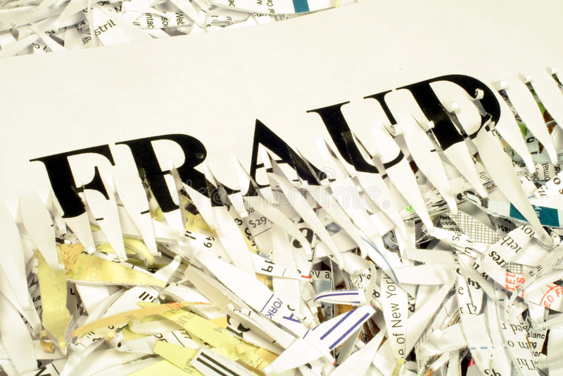 oszustwa strzępiący dokumentu obraz royalty free