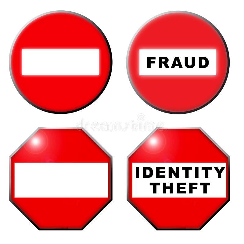oszustwo hasłowa tożsamość symbol żadna kradzież ilustracja wektor