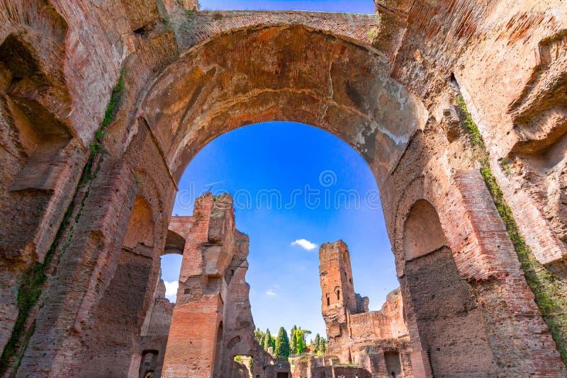 Ot di Terme di Caracalla i bagni di Caracalla a Roma, Italia fotografie stock